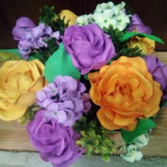Aranjament Trandafiri cu Hortensii