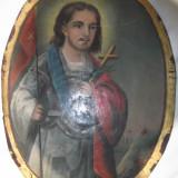 PICTURA IN ULEI PE PANZA PICTATA PE AMBELE FETE DIN ANII 1800!