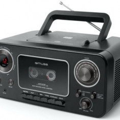 Micro Sistem Audio Portabil Muse M-182 RDC MSE00064, CD-Player, Radio, Player Casete audio si Recorder, AUX-in (Negru)