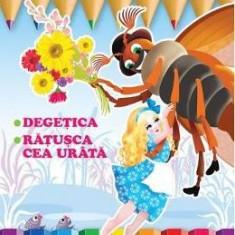 Citesc si colorez: Degetica - Carte educativa