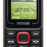 Telefon Mobil Freeman T130, TFT 1.8inch, Bluetooth, Dual Sim (Negru/Rosu)