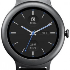 Smartwatch LG Style W270, P-OLED capacitive touchscreen 1.2inch, Procesor Quad-Core 1.1 GHz, 512MB RAM, 4GB Flash, Bluetooth, Rezistent la apa (Gri)