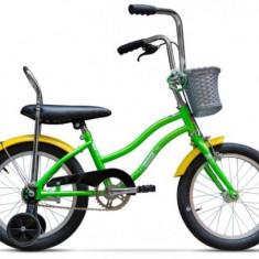 Bicicleta Pegas Mezin 1S, Cadru 9inch, Roti 16inch (Verde) - Bicicleta copii
