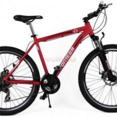Bicicleta Omega Hawk, Roti 26inch, 21 viteze (Rosu) - Bicicleta de oras