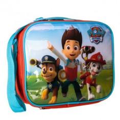 Geanta frigorifica Paw Patrol cu accesorii, portocalie cu albastru - Gentuta Copii