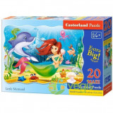 Puzzle 20 Maxi Castorland - Little mermaid