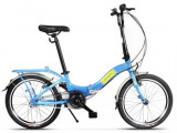 Bicicleta Pegas Camping 3S, Pliabila, Roti 20inch, 3 Viteze (Albastru)