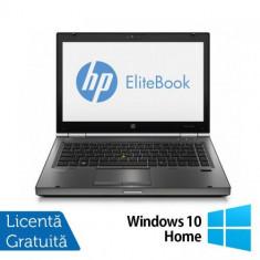 Laptop Refurbished HP EliteBook 8470p, (Procesor Intel Core i5-3210M 2.50 GHz, 8GB DDR3, 320GB SATA, DVD-ROM, 14inch LED Backlight + Wind 10 Home)