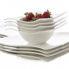 Set 12 piese Motion Dinner Alb, Portelan - Arc - Piston - Garnitura Etrier