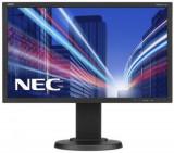 Monitor IPS LED Nec 21.5inch E224Wi, Full HD (1920 x 1080), VGA, DVI, DisplayPort, Pivot, 6 ms (Negru), 21.5 inch