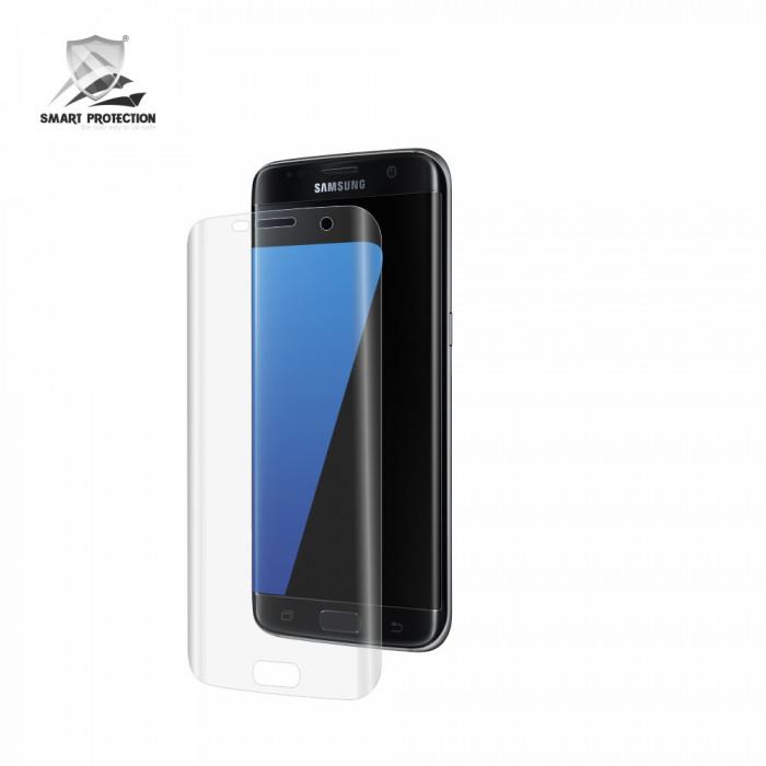 Folie de protectie Clasic Smart Protection Samsung Galaxy S7 Edge compatibila cu carcasa silicon Samsung foto mare