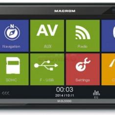 Player DVD auto Macrom M-DL5000, 4x45W, Touchscreen 6.2inch, USB, Bluetooth, Navigatie GPS