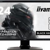 Monitor Gaming TN LED iiyama G-Master Black Hawk 24inch GE2488HS, Full HD (1920 x 1080), VGA, DVI, HDMI, 1 ms, FreeSync, Boxe (Negru)