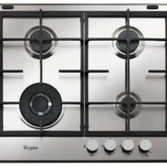Plita incorporabila Whirlpool Estetica Ambient GMA 6422 IX, Gaz, 4 Arzatoare, 60 cm, Gratare fonta (Inox)