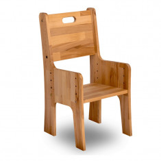 Scaun din lemn de fag, Ecodesk, L34, 5xl36h66, 4 cm - Mobila bucatarie