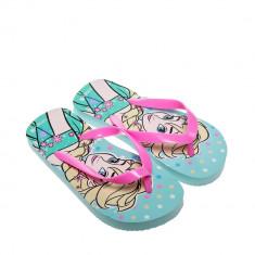 Papuci copii Frozen albastru cu roz