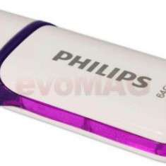 Stick USB Philips FM64FD70B/10 Snow Edition, 64GB, USB 2.0 (Alb/Mov)