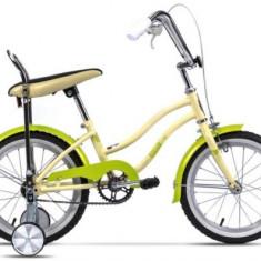 Bicicleta Pegas Mezin 2017 Fata, Cadru 9inch, Roti 16inch (Crem) - Bicicleta copii