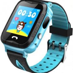 Smartwatch iUni Kid6, 1.44inch, GPS, Bluetooth, 2MP, Bratara silicon, dedicat pentru copii (Albastru)