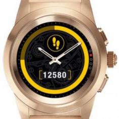 Smartwatch MyKronoz ZeTime Elite, Ecran Touchscreen TFT 1.22inch, Bluetooth, Bratara Otel Inoxidabil, Rezistent la apa (Roz Auriu)