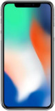 Telefon Mobil Apple iPhone X, iOS 11, OLED Multi-Touch display 5.8inch, 3GB RAM, 256GB Flash, Dual 12MP, Wi-Fi, 4G, iOS (Silver), Argintiu, Smartphone, Neblocat