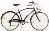 Bicicleta Pegas Popular Alu 19 7S, Cadru 19inch, Roti 28inch, 7 Viteze (Negru)