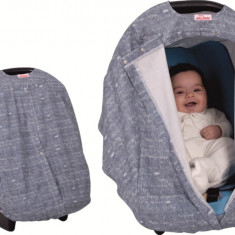 Husa protectie scoica auto Sevi Bebe Jeans Design - Scaun auto copii