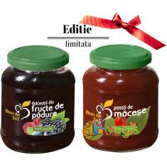 Pachet Promo Dulceata Din Fructe De Padure Fara Zahar 360g + Pasta De Macese Fara Zahar 360g