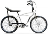 Bicicleta Pegas Strada 1 OTEL 3S 2017, Cadru 17inch, Roti 26inch, 3 Viteze (Alb)