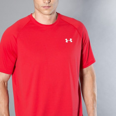 Under Armour - Tricou Ua Tech SS Tee-Red Wht - Tricou barbati