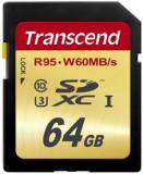 Card de memorie Transcend SDXC, 64GB, Clasa 10, UHS-I U3