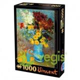 Puzzle 1000 Vincent Van Gogh - Flowers in blue vase