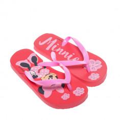 Papuci copii Disney 2 rosu cu roz
