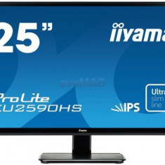 Monitor TN LED iiyama 25inch XU2590HS-B1, Full HD (1920 x 1080), VGA, HDMI, DVI-D, 5 ms, Boxe, 25 inch