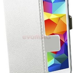 Husa Flip cover Cellularline BOOKESSENGALS5W pentru Samsung Galaxy S5 (Alb) - Husa Telefon