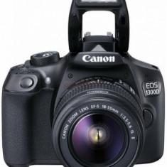 Aparat Foto D-SLR Canon EOS 1300D + EFS18-55 IS II, 18 MP, Ecran 3inch LCD, Filmare Full HD (Negru)