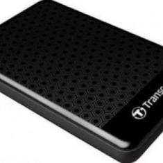 HDD Extern Transcend 25A3K, 2.5 inch, 500GB, USB 3.0, Protectie la soc (Negru)