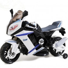 Motocicleta electrica Mood Moto White Black - Masinuta electrica copii