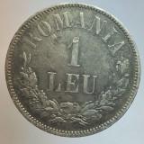 """ROMANIA - 1 Leu 1873 cu """" L """" intrerupt . Detalii superbe . Foarte rara !"""