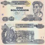 Bolivia 10  Bolivianos 28.11.1986 UNC