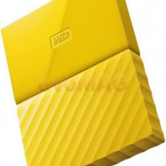 HDD Extern Western Digital My Passport NEW, 2TB, 2.5 inch, USB 3.0 (Galben)