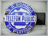 RARITATE! SIGLĂ VECHE DE TELEFON PUBLIC PERIOADA INTERBELICĂ UZINELE SAR MEDIAS!, Ornamentale
