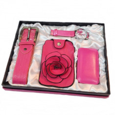 Set Dama cu Accesorii Pink Rose Ideal Gift