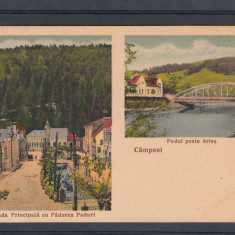 CAMPENI STRADA PRINCIPALA CU PADUREA PODURI PODUL PESTE ARIES EDITURA V.MARIS - Carte Postala Transilvania pana la 1904, Necirculata, Printata