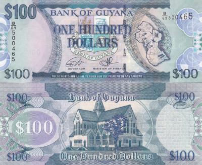 Guyana 100 Dollars 2011 UNC foto