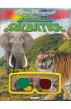 Cartea mea 3D de colorat: Animale salbatice, Lisa Regan