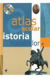 Atlas scolar. Istoria romanilor + CD, Elena Oprean
