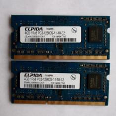 4g ddr3 ELPIDA 1RX8 PC3-12800S-11-10-B2 - Memorie RAM laptop Elpida, 4 GB, 1600 mhz