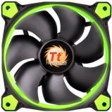Kit Ventilatoare Thermaltake Riing 12 High Static Pressure, 120mm, 3buc. (Led Verde)