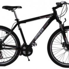 Bicicleta Omega Dominator, Roti 26inch, 21 viteze (Negru/Rosu)